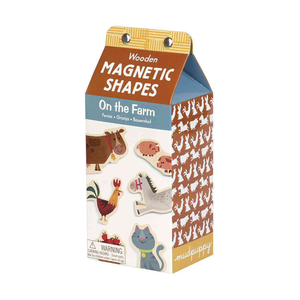 On the Farm Wooden Magnetic Shapes By Yanok, Johnny (ILT)